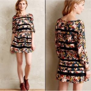 Anthro Holding Horses Garden Lace Floral Dress SP